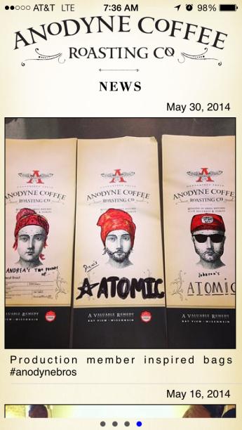 ANodyne Coffee App Screenshot 2